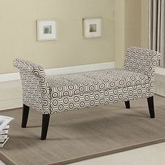 !nspire Tufted Fabric Storage Bench