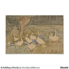 A Paddling of Ducks Poster