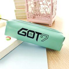GOT7 got 7 kpop Pen Pencil Case Box Korea PU Bag Stationery