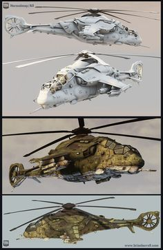 Futuristic Russian Helicopter (Hind inspired) - Polycount #3d character