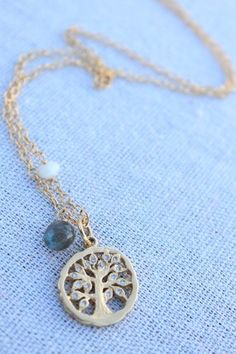 Boma Sterling Silver Gold Floral Branch Necklace Jewelry