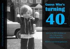 40th Birthday Party Invite by touchedbydesign on Etsy, $5.00