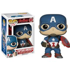 POP Marvel: Avengers 2 - Captain America from Funko. The Age of Ultron is upon us and the Avengers are here in Pop form to save the day. This Captain America po Funko Pop Marvel, Marvel Avengers, Marvel Pop Vinyl, Avengers Film, Marvel Comics, Marvel Fan, Captain America Civil War, Captain America Figure, America America