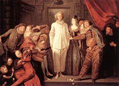 Antoine Watteau. Italian comedians. 1720