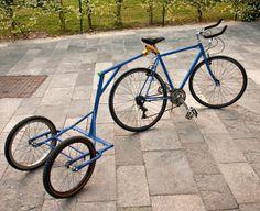 Biga, the bike trailer #outdoors #summer #biking #kids #welding