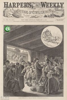 Chinese immigrants at the San Francisco custom house
