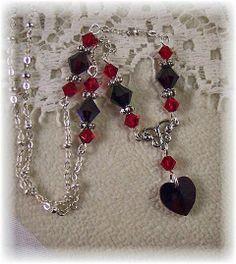 New Swarovski Siam/Garnet Heart Crystal by HisJewelsCreations, $27.99