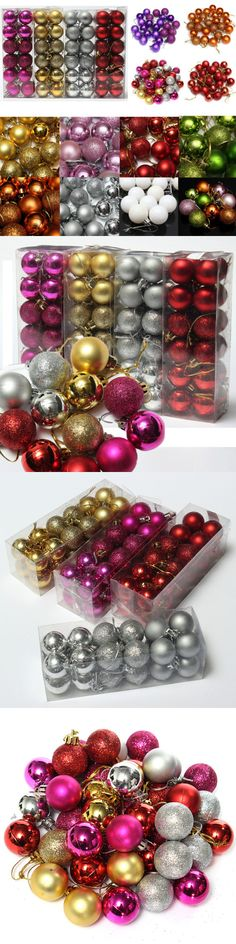 Christmas Decorations: 24Pcs Glitter Christmas Balls Baubles Xmas Tree Hanging Ornament Christmas Decor -> BUY IT NOW ONLY: $1.75 on eBay!