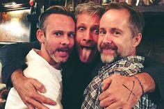 Dominic Monaghan, Viggo Mortensen and Billy Boyd - LOTR 2016 Reunion