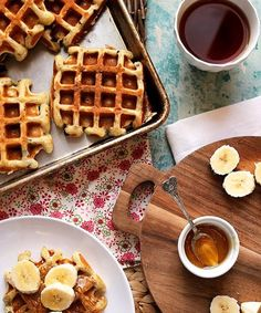 National Waffle Day - Waffle Recipes | These six waffles pay homage to a very delicious day. #refinery29 http://www.refinery29.com/waffle-day