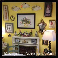 Find us on FaceBook: Mint Julep Antiques & Art  47 E. Queens Way ~~ Hampton, VA 23669 (757) 870-2195 ~~ www.mintjulepantiques.com ~~ An eclectic gathering of treasures!