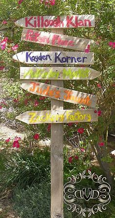 Fun Family Garden Sign for the Garden - let each kid make their own personalized sign!