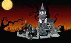 Celebrate Halloween with this awesome Spooky LEGO Cemetery | Warped Factor - Words in the Key of Geek.