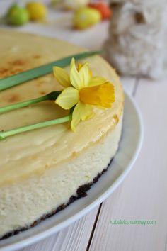 Sernik z cytrusową nutką na spodzie z ciastek Hitów / Cheesecake with citrus flavour