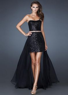 Black Full Sequin Strapless Detachable Hi-Lo Prom Dress [Detachable Hi-Lo Prom Dress] - $177.00 : Prom Dresses On Sale, 60% off Dresses for Prom Night 2013