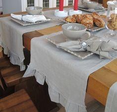 Romantiikka- kaitaliina 40x140 cm, harmaa Table, Furniture, Home Decor, Decoration Home, Room Decor, Tables, Home Furnishings, Home Interior Design, Desk
