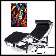 Original Abstract painting Modern LOVE Hearts HUGE Canvas WALL Art Fidostudio #PopArt