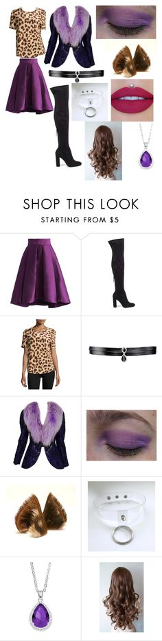"""""""last minute monster high costume"""" by veronica-oates ❤ liked on Polyvore featuring Chicwish, Steve Madden, Equipment, Fallon, Adolfo and City Rox"""