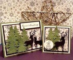 Fir tree die, evergreen die, winter, Stampin'dipity: Holiday Pines