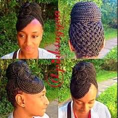 hair - Home Black Braided Hairstyles Updos, Cornrow Updo Hairstyles, Black Girls Hairstyles, African Hairstyles, Hairstyles With Bangs, Black Girl Braids, Braids For Black Hair, Girls Braids, Natural Hair Updo