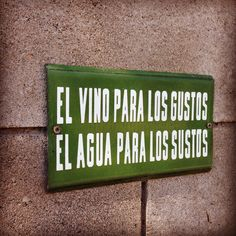 Hermoso cartel en la Casa Del Visitante de Bodega Zuccardi. #wine #Vino #mendoza