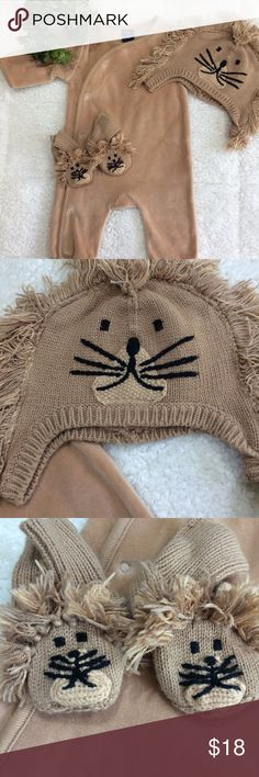 👶🏻 GAP Baby Lion 🦁 Costume 👶🏻 Super cute & comfy lion costume. Bodysuit is like a soft pajama. Lion 🦁 hat & booties make costume complete. Perfect for Baby's 1st Halloween. I love that it's a costume but still very comfortable for baby. MAKE AN OFFER!!! NO TRADES PLEASE!!! GAP Costumes Halloween