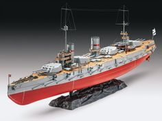 Russian Battleship Gangut (WW I) Plastic Model Kit