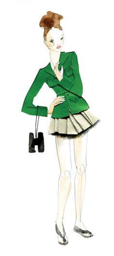 Kat Macleod's portfolio, presented by The Jacky Winter Group. Jacky Winter, Fashion Sketches, Fashion Illustrations, Australian Artists, Fashion Face, Collage Art, Illustration Art, Drawings, Irish Jig