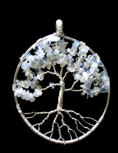 Moonstone Tree of Life Pendant 003 by SonoraKayCreations on Etsy, $30.00