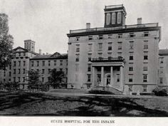 Exterior: Jacksonville State Hospital for the Insane, IL (actual hospital where Elizabeth Packard was imprisoned)