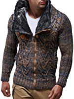 Shop Leif Nelson Men Cardigan Jacket Hood Free delivery and returns on eligible orders. Knit Jacket, Sweater Jacket, Knit Cardigan, Men Sweater, Jumper, Mens Fashion Sweaters, Casual Sweaters, Leif Nelson, Slim Fit Hoodie