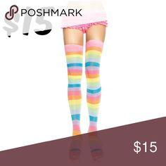 Cosplay Thigh High Thick Knit Rainbow Socks Derby Thigh High Thick Knit Rainbow Socks Roller Derby 6600 Accessories Hosiery & Socks