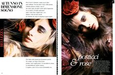 "Vogue Italia July/August 1985 ""Beauty: Autunno in Dimensione Sogno"" Models: Unknown Photographer: Javier Vallhonrat Hair: Aldo Coppola Makeup: Beatrice Álvarez"
