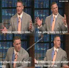 John Cena's daily struggle