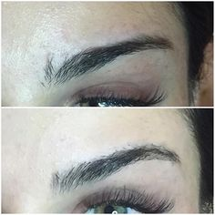 Eyebrow correction.  Step 1 trim brows to see what your working with. Step 2 hard wax shape of brow.  Cleaner brows are fuller brows :) step 3 I used #Lashx brow extensions to fill in sparse areas extend the brow and tweet the arch.  This will last 3 weeks at so.  Enough time to put the brow Grower by @lashxbymm where she needs it and grow in her own brows! #eyebrows #eyebrowextensions #extensions #advancedtraining #theartofbrowdesign #browcorrection #proliner @themakeupmandy  #browkit…
