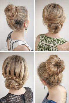 Donut Bun Hairstyles, Dance Hairstyles, Pretty Hairstyles, Lower Bun Hairstyles, Hairstyle Ideas, Bridesmaid Hair, Prom Hair, Hair Romance, Love Hair