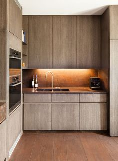 wood texture modern kitchen