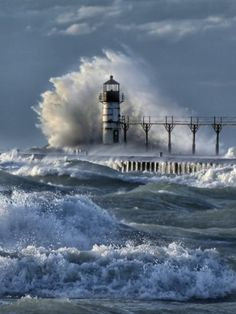 crashed Upon, St.Joseph, Michigan by Charles Anderson