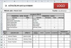 Firmalar İçin Günlük Puantaj Formu (Excel)
