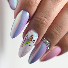 : 50 magische Einhorn Nail Art Designs 50 Magical Unicorn Nail Art Designs 50 magische Einhorn Nail Art Designs Why do individuals have toenails?Like all primates, human fingers have big methods supported by nails. In this informative article, intrigui Unicorn Nails Designs, Unicorn Nail Art, Nail Art Chrome, Marble Nail Art, Cute Nails, Pretty Nails, My Nails, Nail Polish, Nail Manicure
