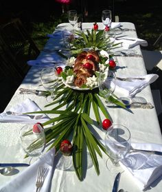 Our table setting for Greek Easter