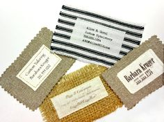 Fabric Business Cards Custom Made Cloth by BluePoodleMarket, $45.00