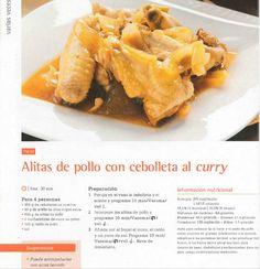 Alitas de pollo con cebolleta al curry