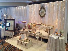 Bridal show booth inspiration -- Wedding Expo Booth, Bridal Show Booths, Vendor Table, Vendor Booth, Photography Booth, Stand Feria, Wedding Fayre, Wedding Band, Wedding Dress