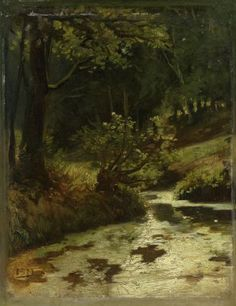 Matthijs Maris, Brook in the Woods near Oosterbeek, 1860, oil on paper mounted on panel, 30 x 23.4 cm, Rijksmuseum