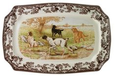 Spode Woodland Hunting Dogs Rectangular Platter - All Dogs $115.5, You Save $49.50