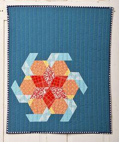 Jessie Aller's Riley Blake Challenge Quilt. Epp, hand-applique, and hand-quilting. Wow!