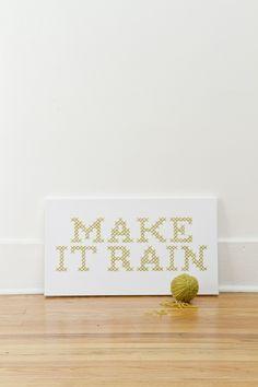 Make it Rain Giant Cross-Stitch   Kollabora by @jd[makesthings]