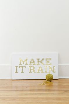 Make it Rain Giant Cross-Stitch | Kollabora by @jd[makesthings]