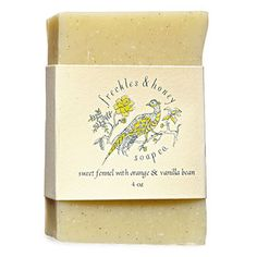 Freckles & Honey's Sweet Fennel with Orange & Vanilla Bean Soap